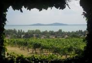 Uitzicht op het Balatonmeer