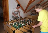 Voetbal in Villa Spa