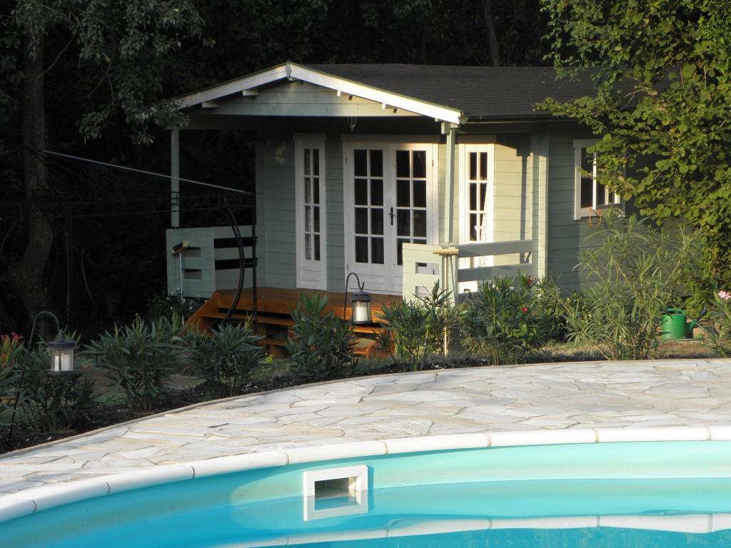 Chalet Balaton ligt dichtbij het zwembad