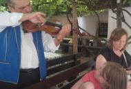 Vioolspel tijdens het diner