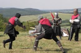 Riddergevecht bij het dorp